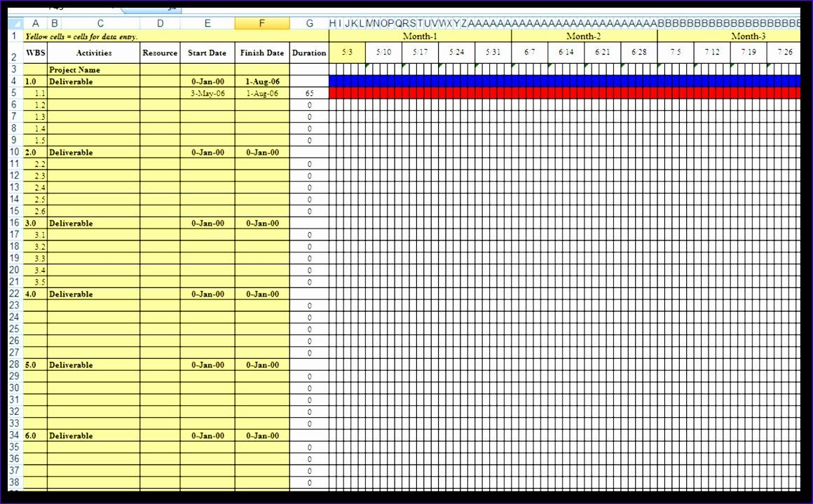 gantt chart excel template 1160719