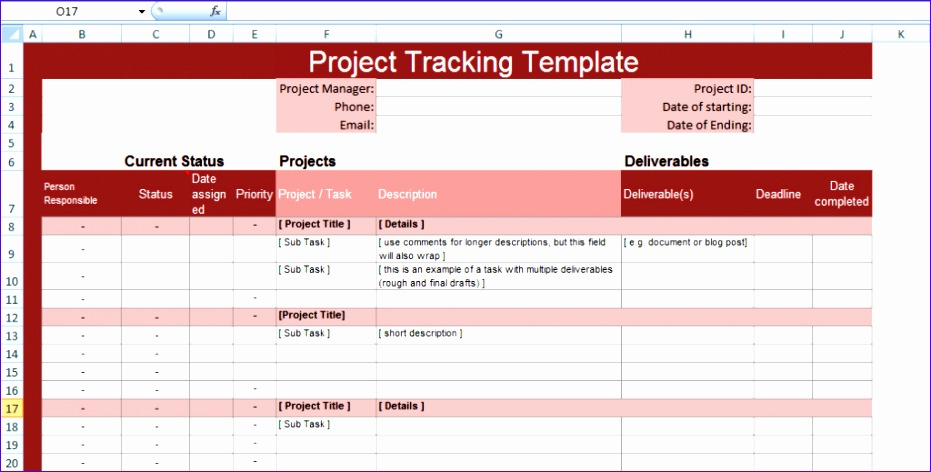 multiple project tracking templates for excel 931472