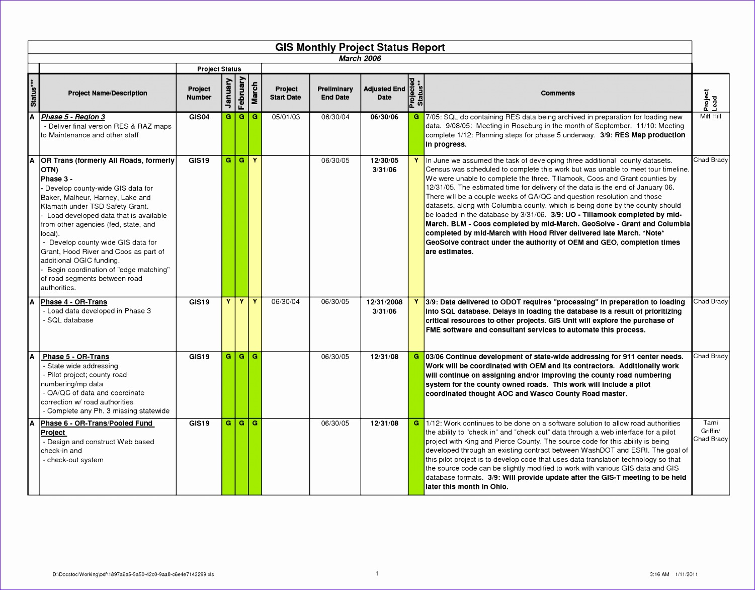 project update template excel 1344 15011173