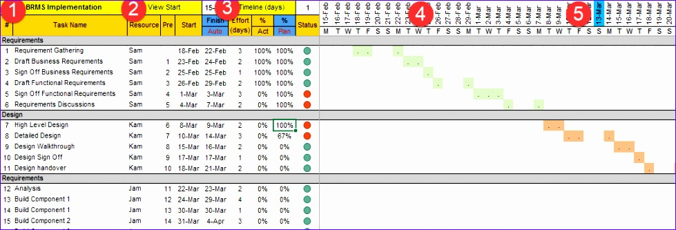 project plan template excel free 979333