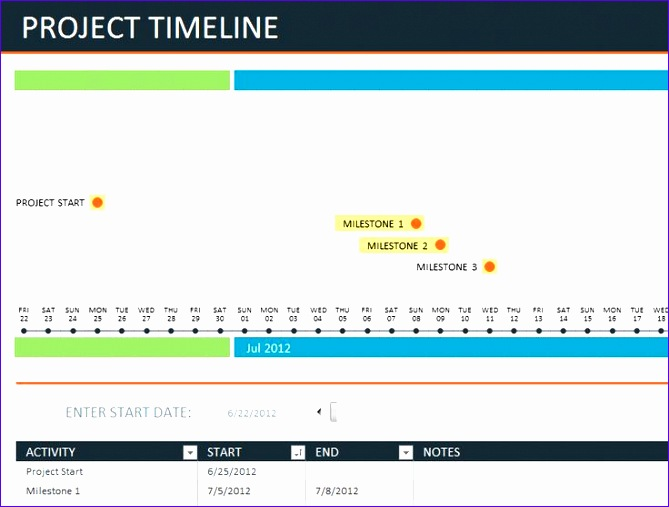 project timeline template 669507