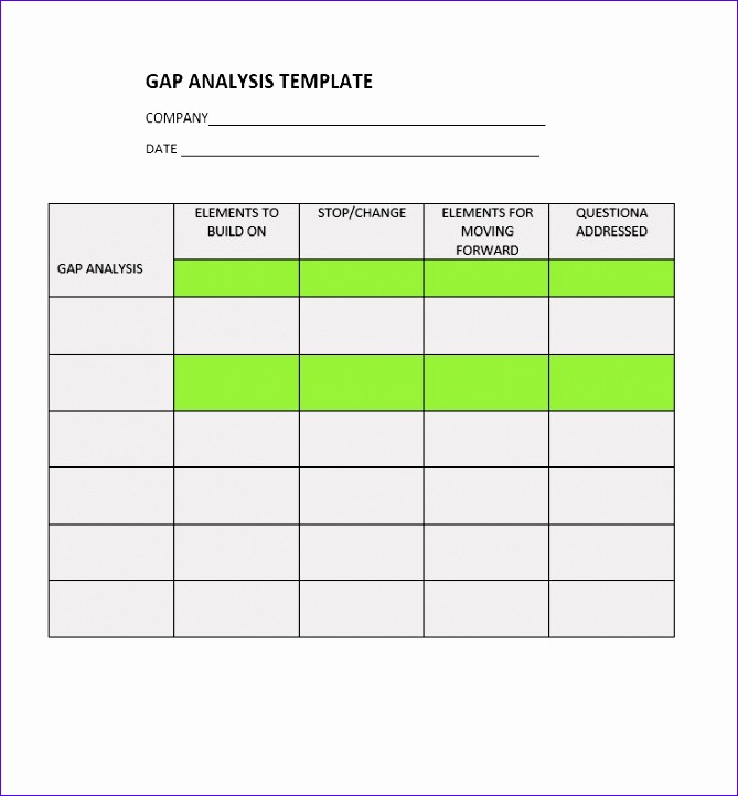 6 gap analysis template excel exceltemplates for Personal gap analysis template