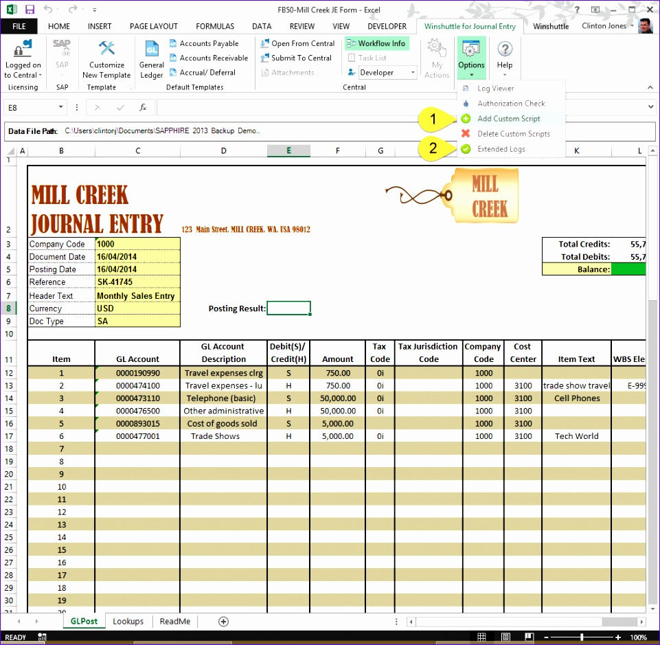 no1 excel manual journal upload tool sap 961939