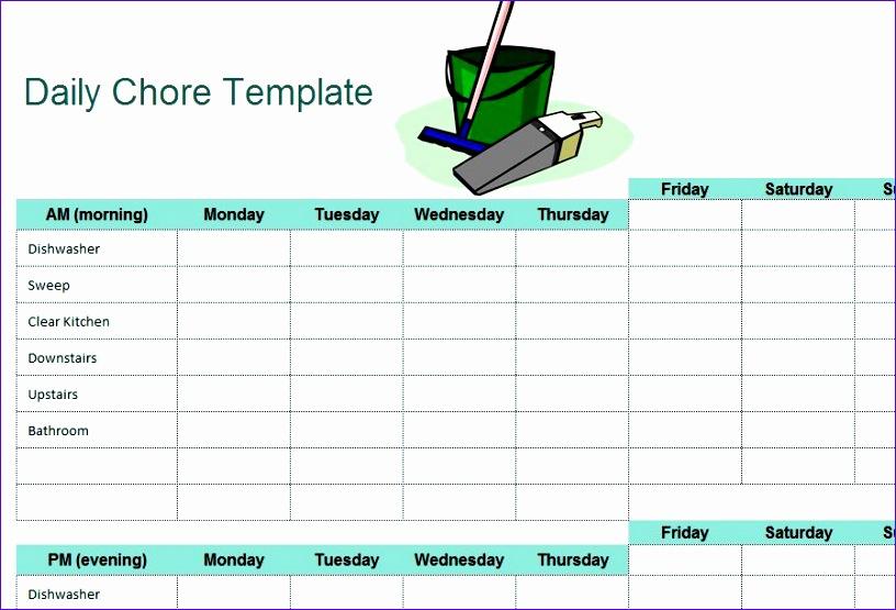 chore sheet checklist