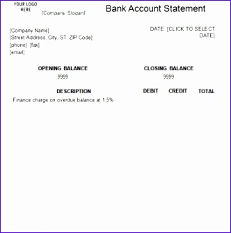 editable bank statement template 332335
