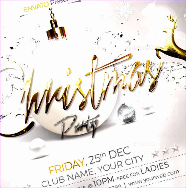 christmas party flyer templates 728736
