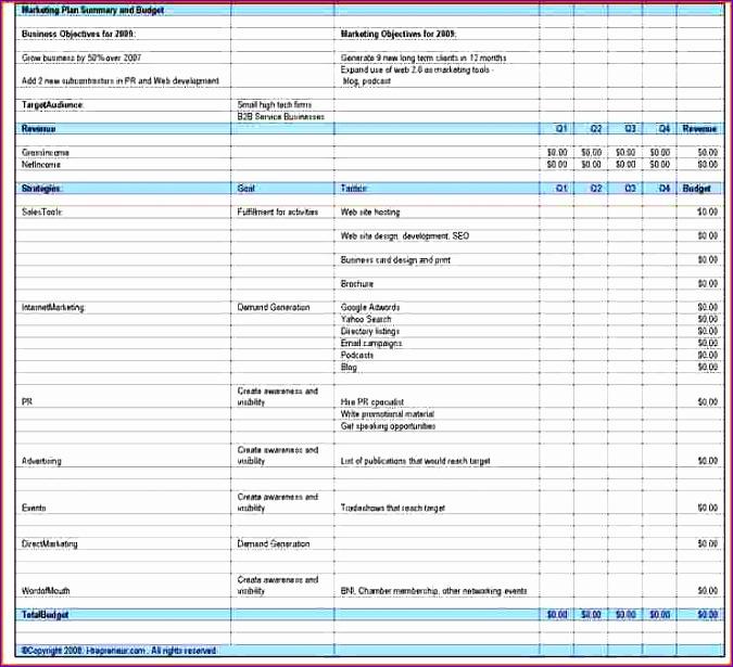 bud plan template 675615