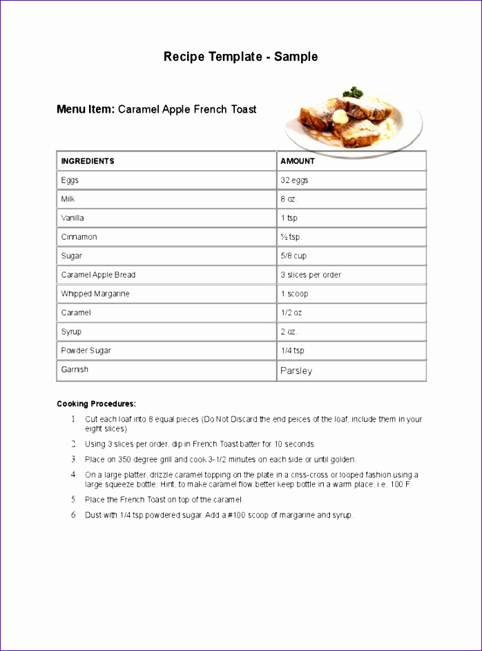 recipe template 698942