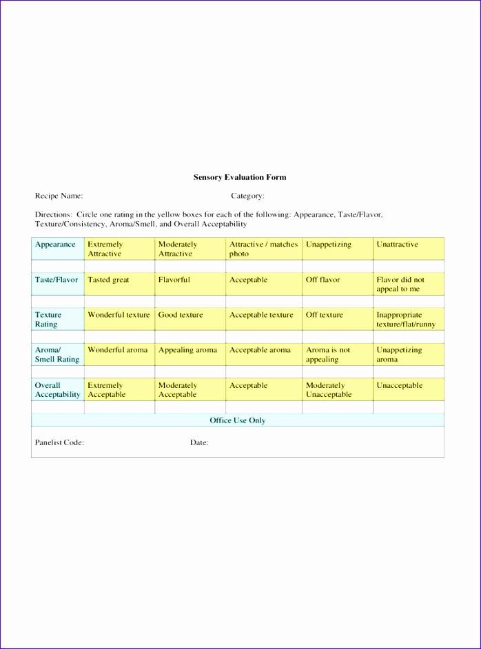 sensory evaluation form 698942