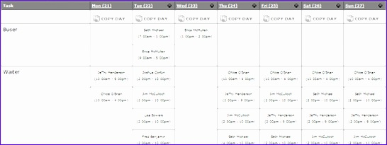 schedule layouts 546205