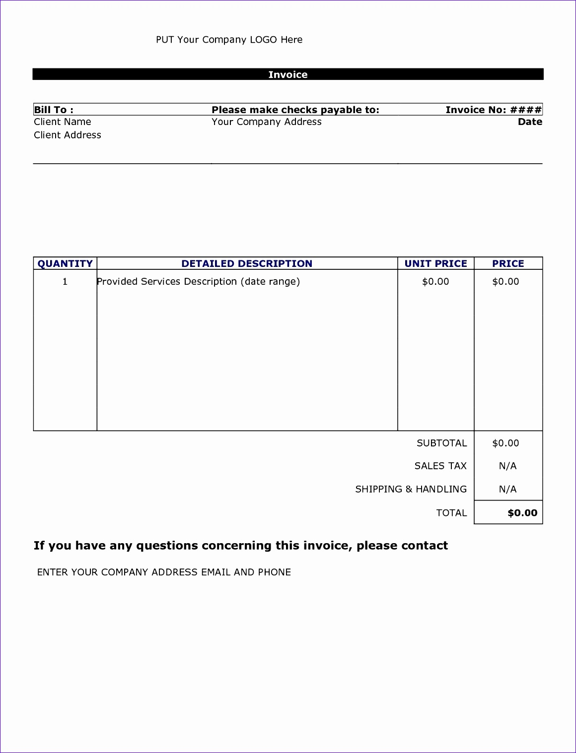 invoice sample doc 68