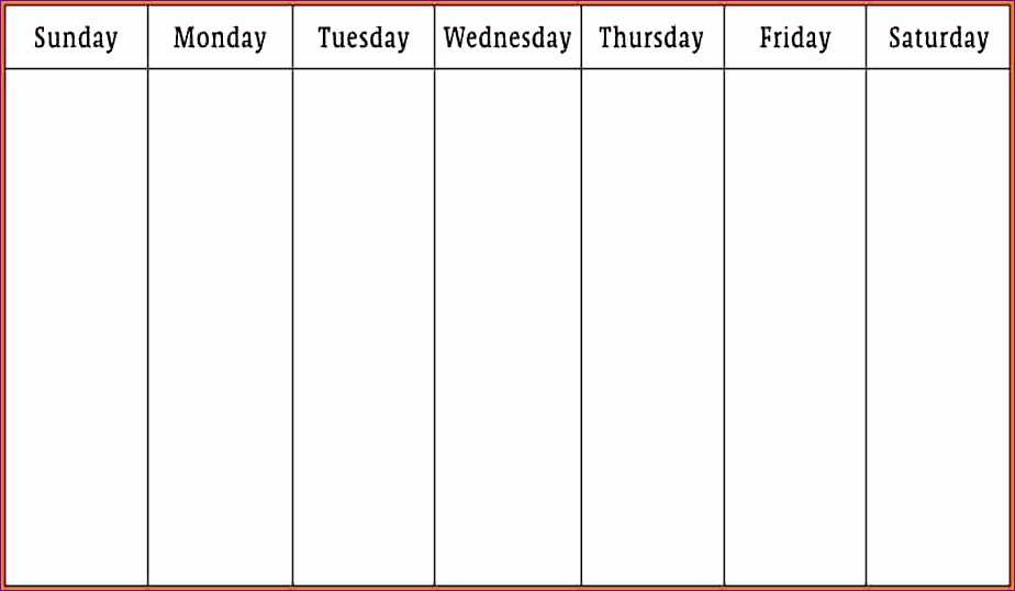 weekly schedule template 924538