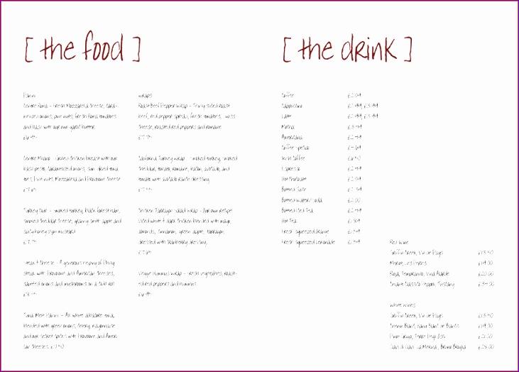 5 free restaurant menu templates 731524