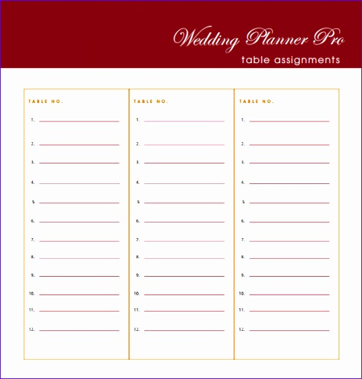 Wedding Guest List Template  Guest List Template