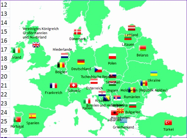 excel europe map add 612452