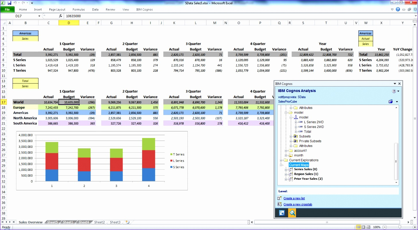 cognos analysis ms excel 1456800