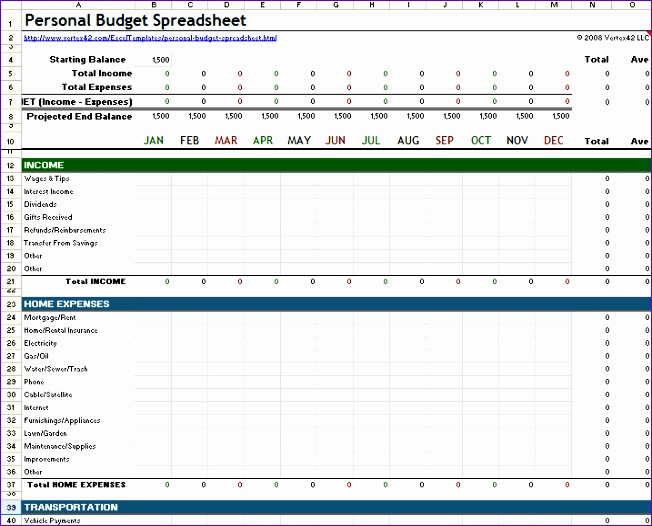 Home Budget Template Excel  Exceltemplates  Exceltemplates