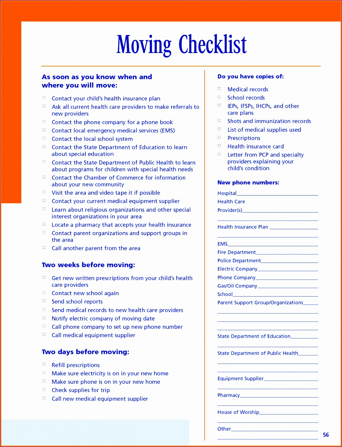 moving checklist template 11691527