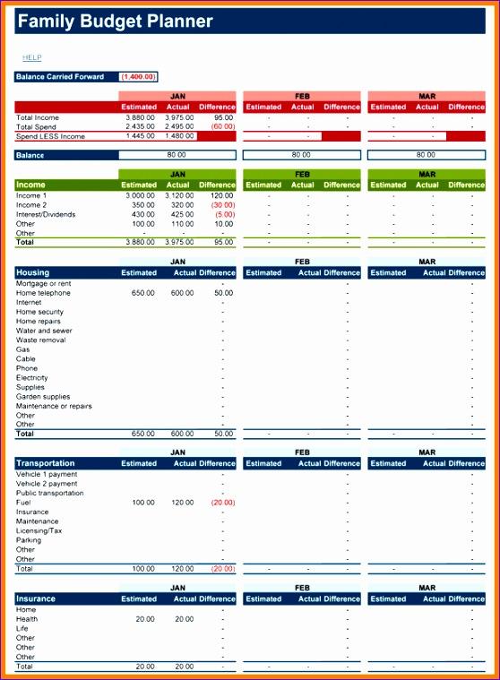 12 household bud planner 558759