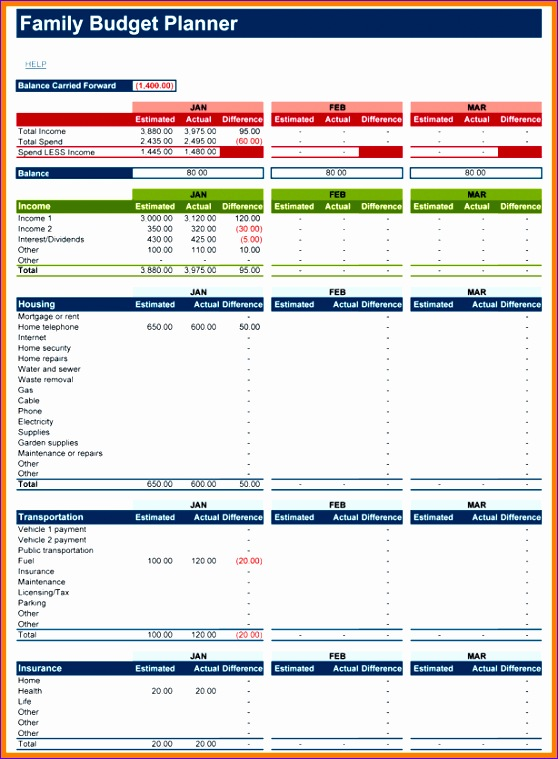 Excel Home Budget Template Gallery Template Design Ideas