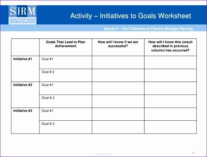 strategic planning worksheet