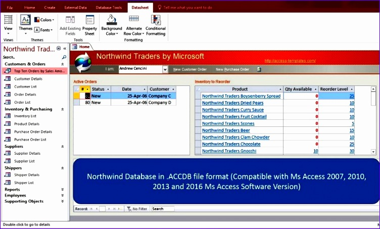 ms access northwind database 606 752453