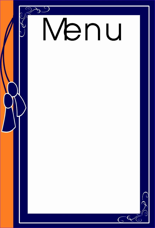 4 blank menu template 8731283