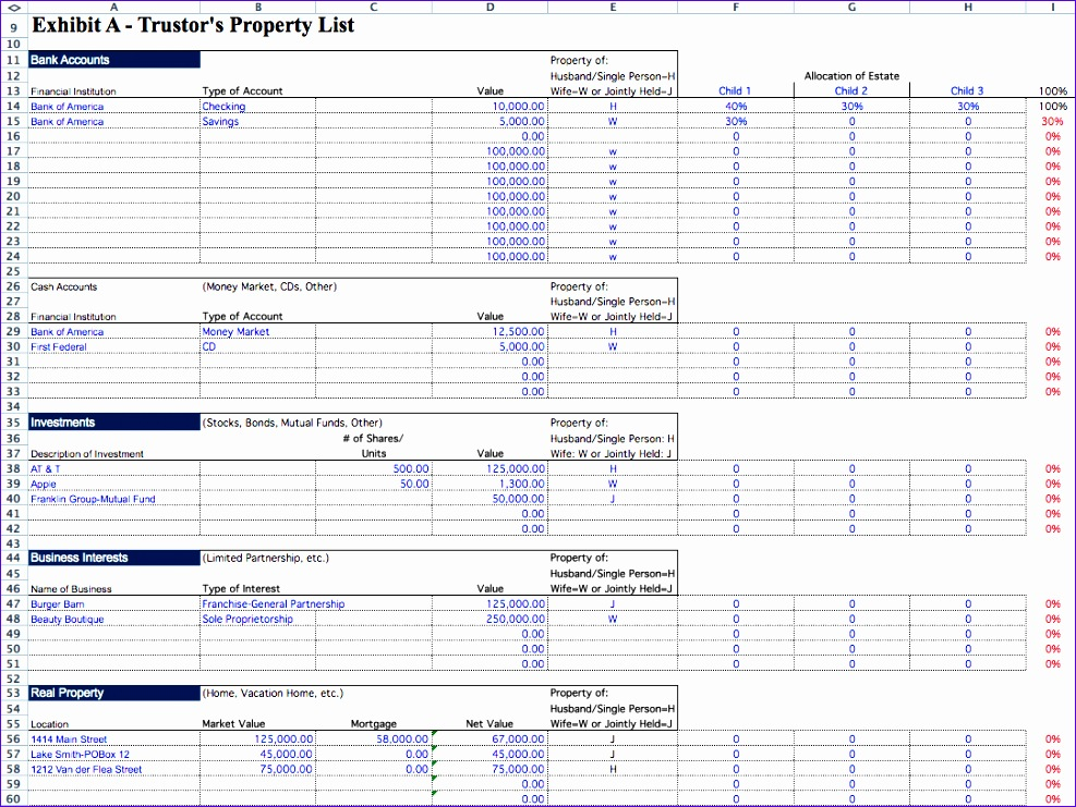 probate spreadsheet 987741