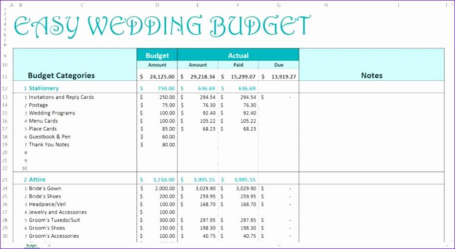 wedding spreadsheet templates 2