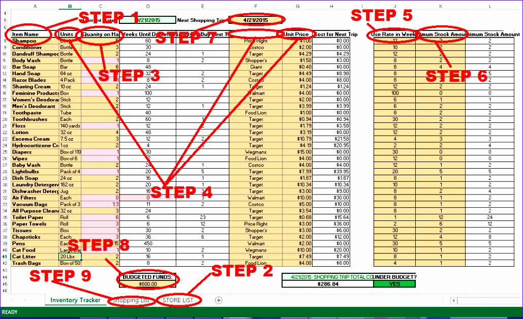 The 3 Benefits Of A Home Supply Closet And A Free Home Supply Closet  Inventory Tracker  Free Inventory List Template
