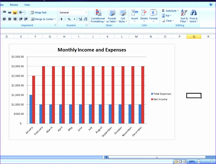 bud chart template personal expense tracker spreadsheet 873662