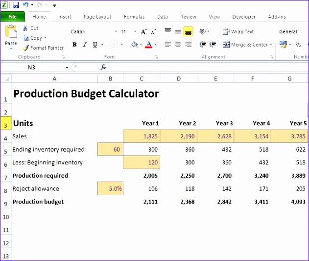 production bud calculator 631532
