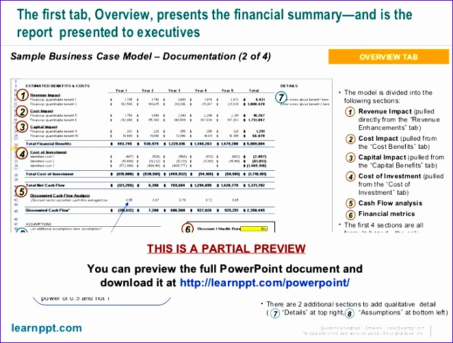 Investment Excel Template Tqyhw New Business Case Development toolkit with Excel Model 728546