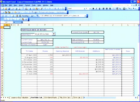 investment calc npv irr analysis 465341