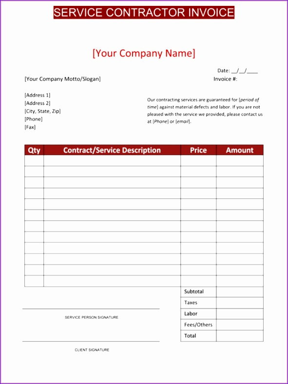 independent contractor invoice template free 1155 591788