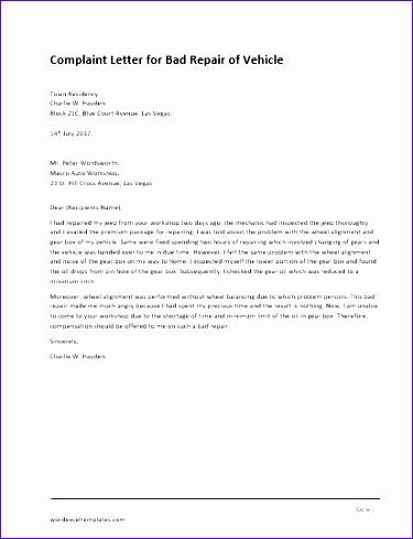 plaint letter for illegal parking 375489
