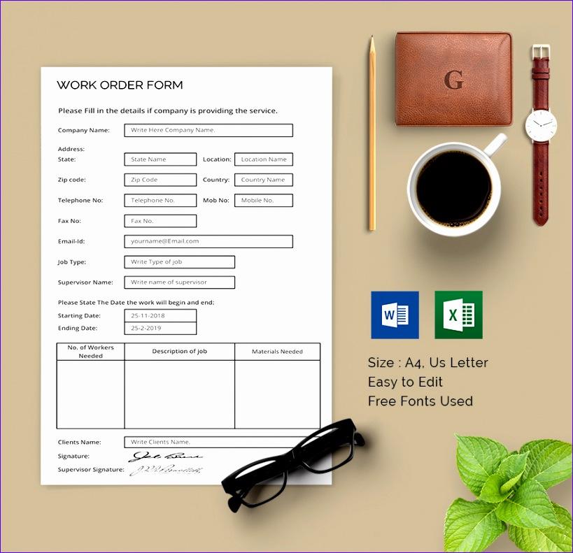 work order template 819791