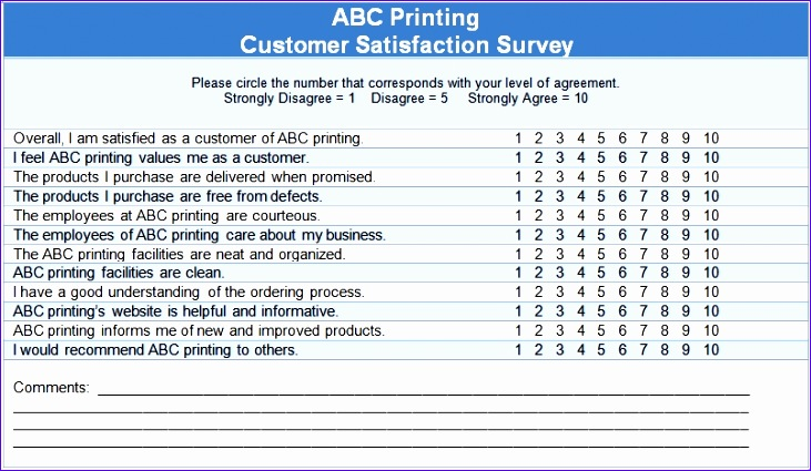 sample survey template 731425