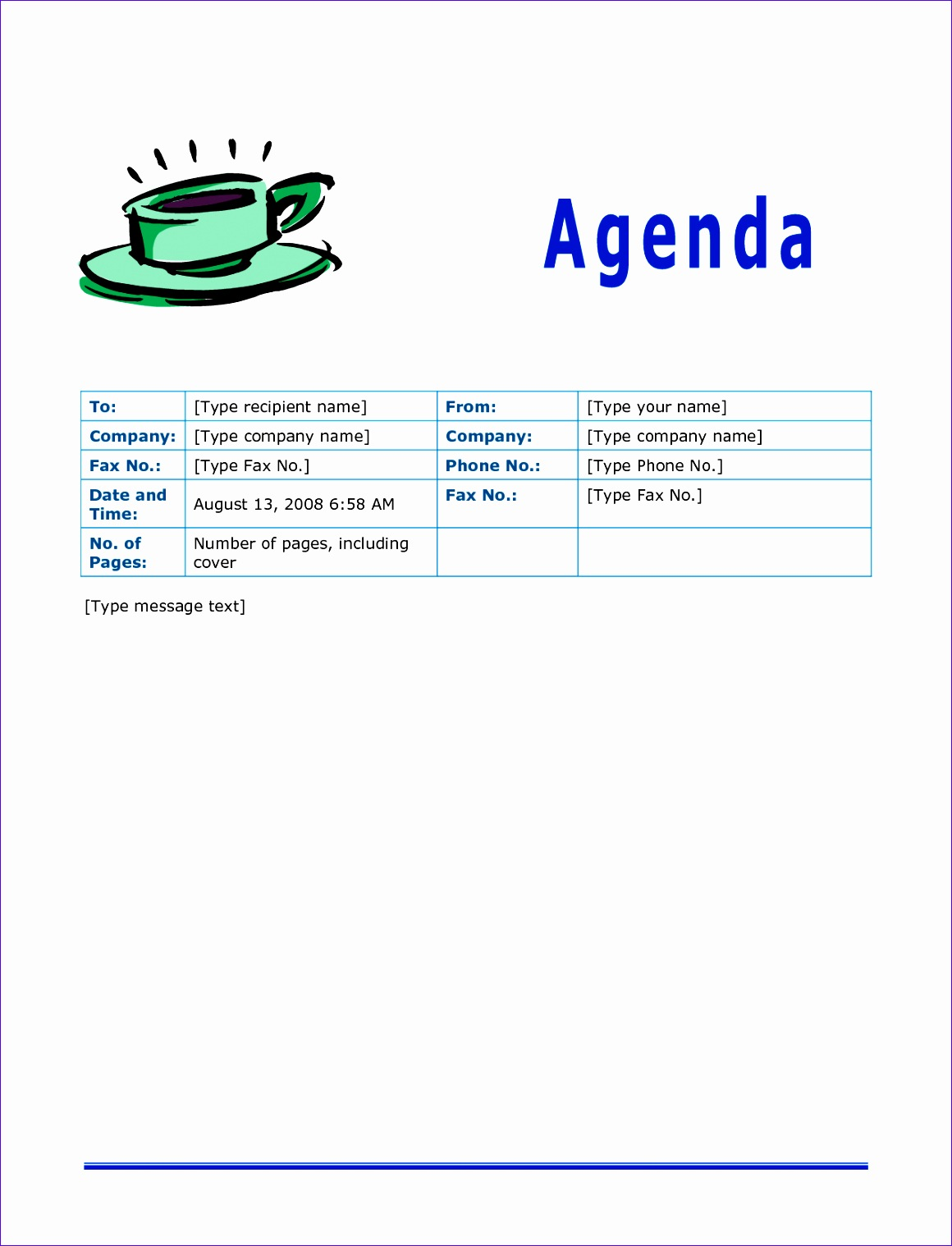 agenda template for word 11601518
