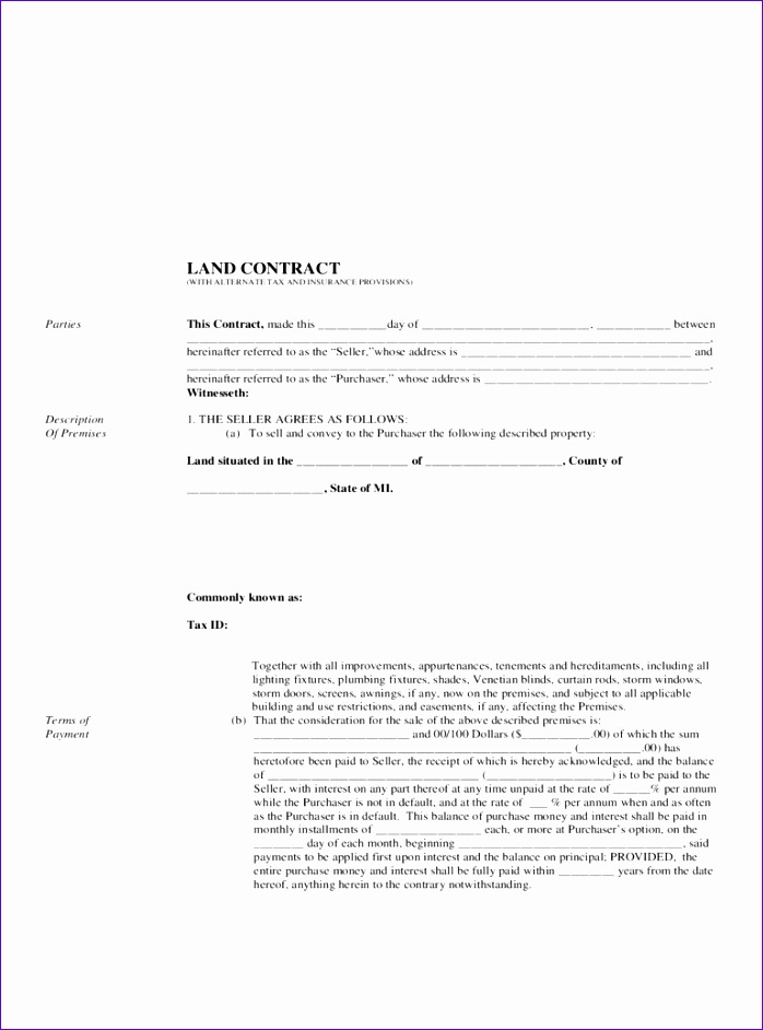 land contract form 698942