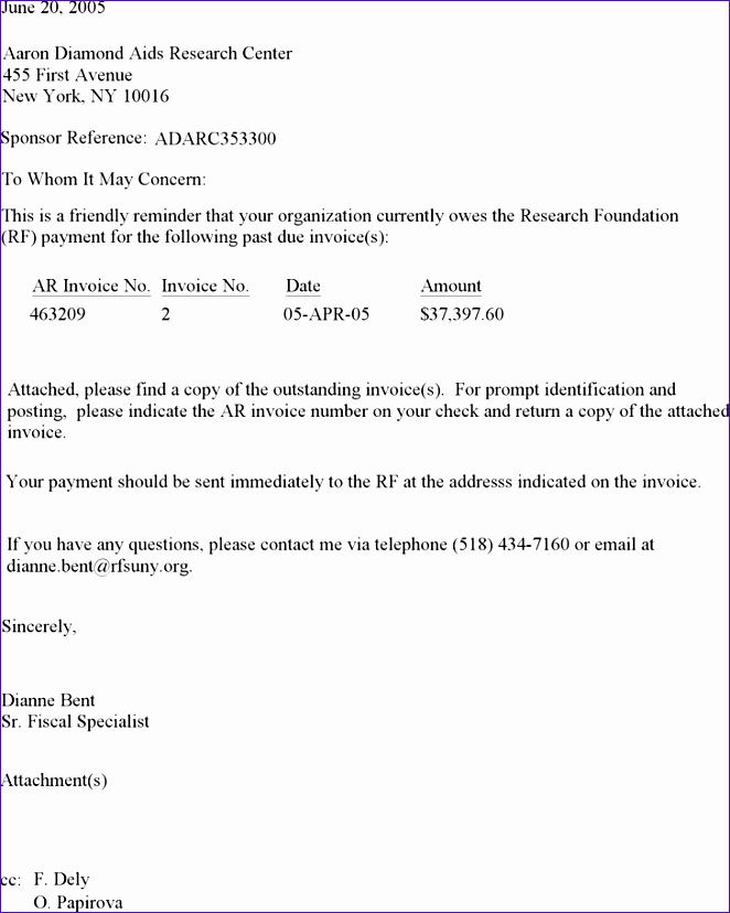 past due invoice letter template 662828