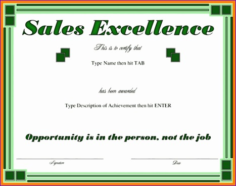4 sales award template 467368