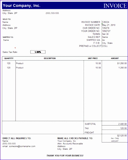 invoice template excel free 111 421529