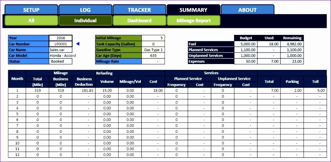 car fleet management for excel 1056516