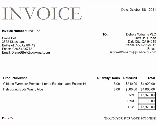 draft invoice format free sample example format 669532