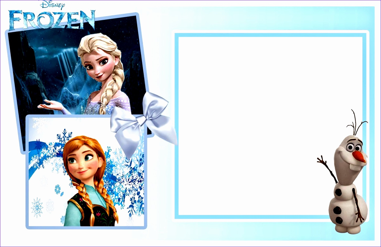frozen invitation template 1456946