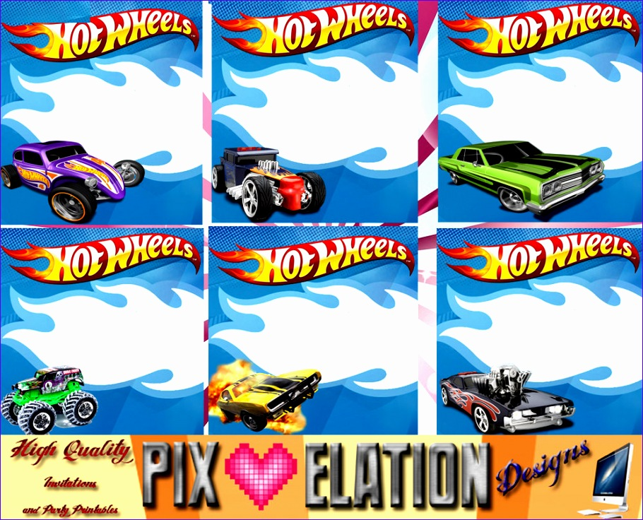 hot wheels invitations template 1544 910736