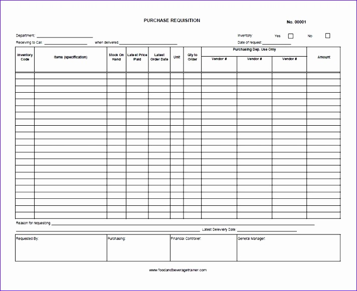 food and beverage forms 712581