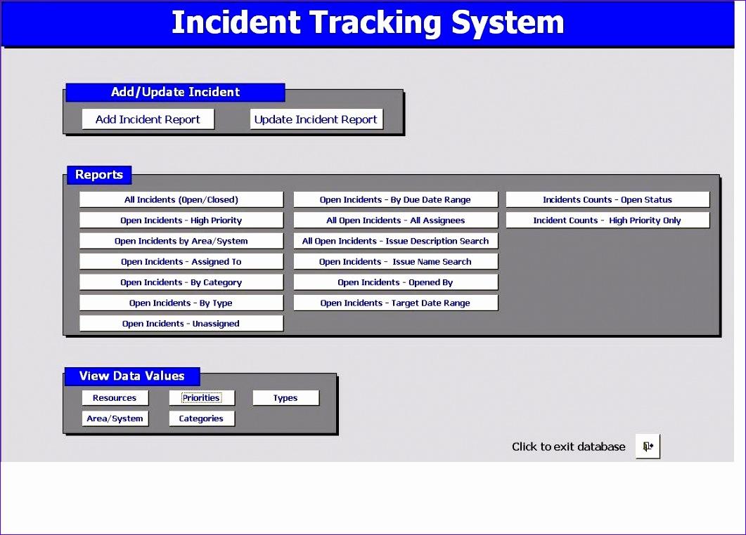 safety tracking spreadsheet