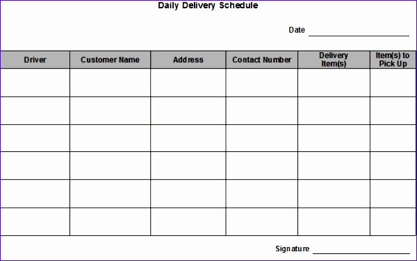 post daily schedule form template 600376